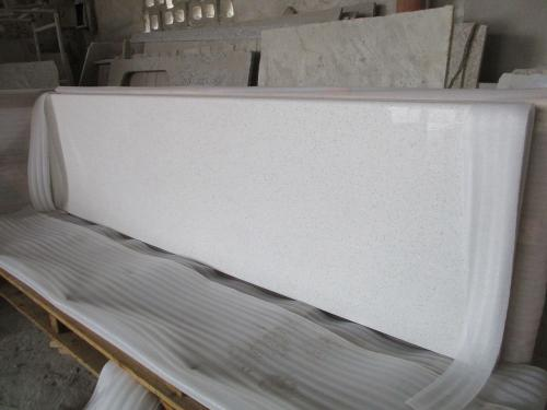Crystal White Quartz Countertop