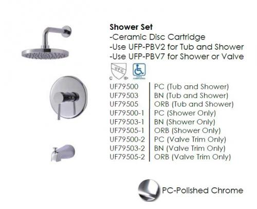 Euro Shower Faucet set