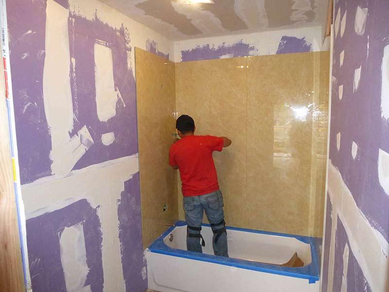 Porcelain Slabs Shower Wall Panels Hotel Vanity Specialist